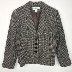 Christian Dior Vintage Brown buttons blazer 14